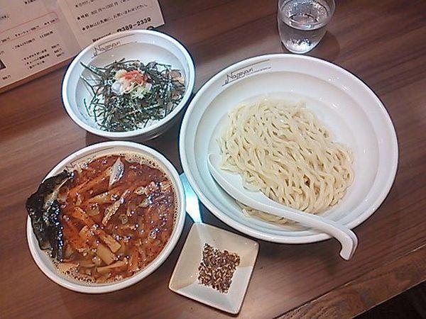「辛にんにくつけ麺(並)+花椒、焼豚ごはん」@らーめん Nageyariの写真