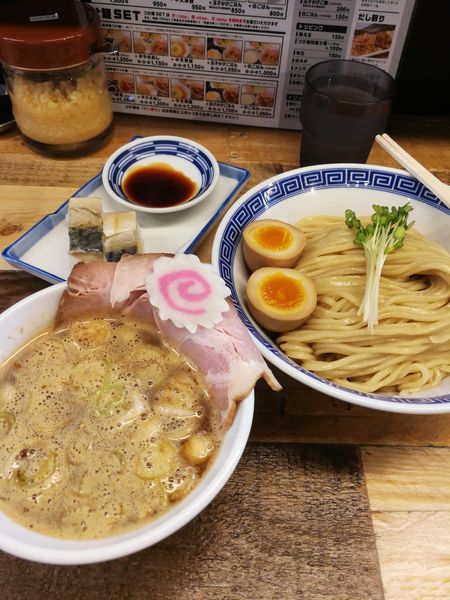 「サバ濃厚鶏つけ麺+サバ寿司 1200円」@サバ6製麺所 成城学園前店の写真