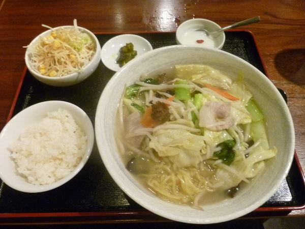 「野菜塩たんめん」@中華料理 楽道の写真