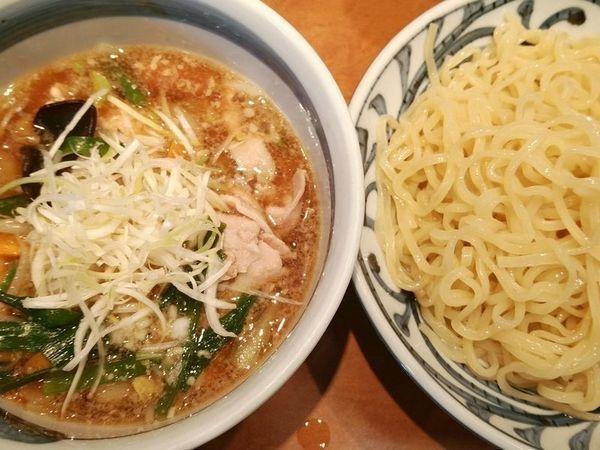 「肉野菜つけ麺(中盛)」@つけめん でんまる 飯田橋店の写真
