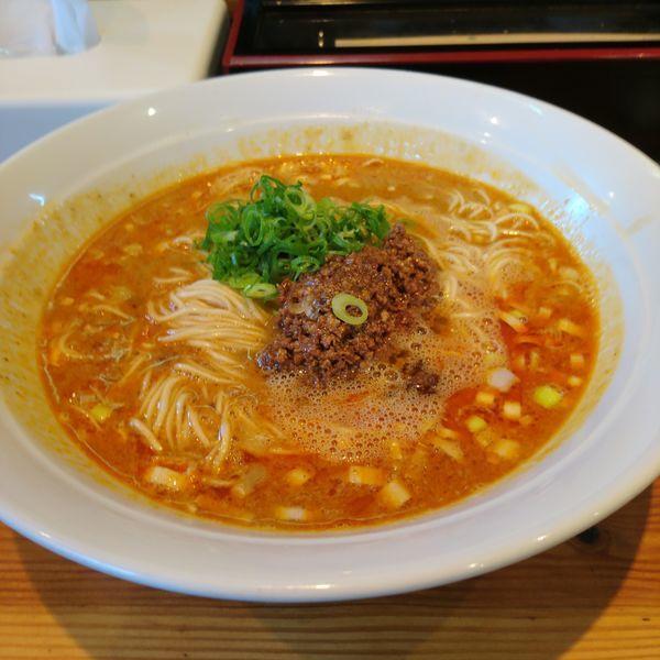 「魚介香る担担麺 大盛」@らーめん芝浜の写真