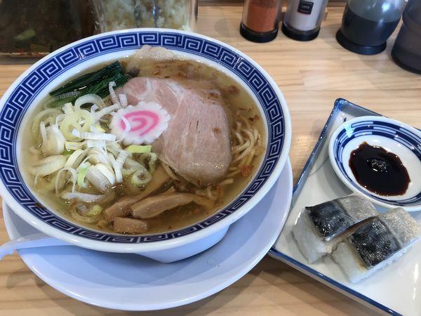 「サバ塩そば サバ寿司 1,000円」@サバ6製麺所 仙台中倉店の写真