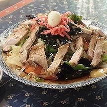 「チャーシュー冷し990円+大盛100円(麺硬め)」@富久栄楼の写真