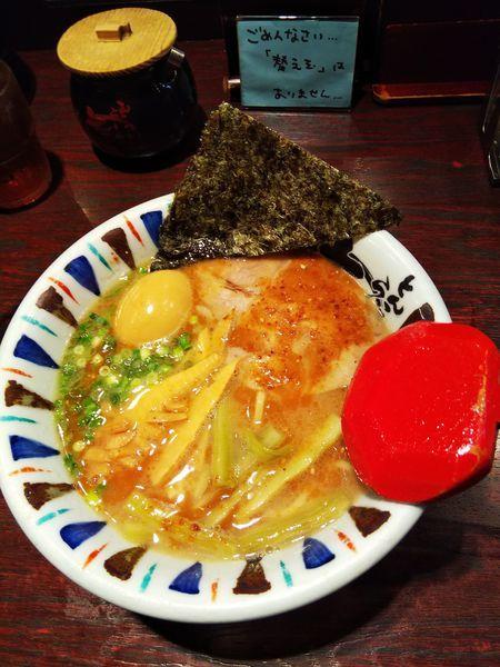 「七志味玉らーめん」@七志 とんこつ編 渋谷道玄坂店の写真