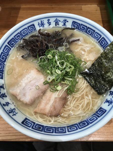 「ラーメン+替玉(¥600+¥150)」@博多食堂 渋谷店の写真
