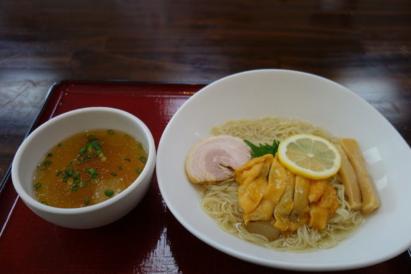 「冷利尻昆布ホヤ潮つけ麺」@潮の音の写真