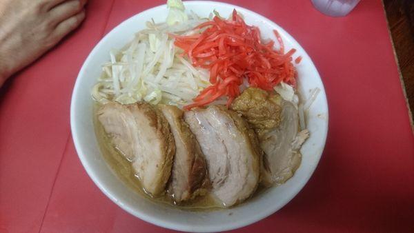 「小豚+紅生姜」@ラーメン二郎 桜台駅前店の写真