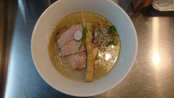 「【三周年チャリティー限定】蛤とのどぐろ煮干しの塩ラーメン」@Bonito Soup Noodle RAIKの写真