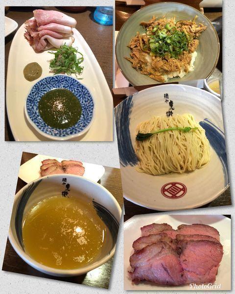 「薬涼 潮つけそば(並盛)+α (計1200円)」@麺や 虎徹の写真