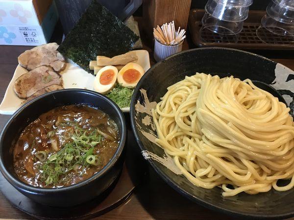 「越後カレーつけ麺(大盛り) 900円」@越後ラーメン 維新 湯沢本店の写真
