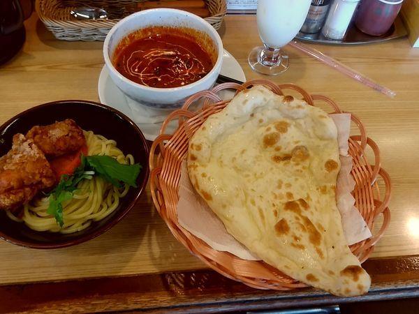 「限定カレーつけ麺(並盛・えび)980円」@バタチキ 前橋うつぼい店の写真