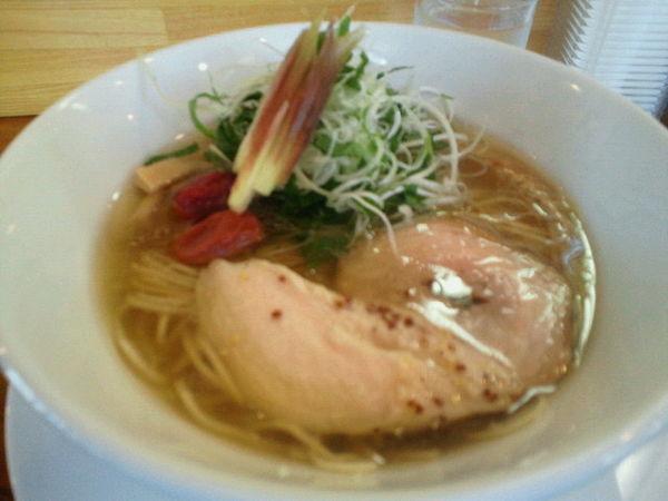 「薬味塩らぁ麺 870円」@らぁ麺屋 晴天の写真