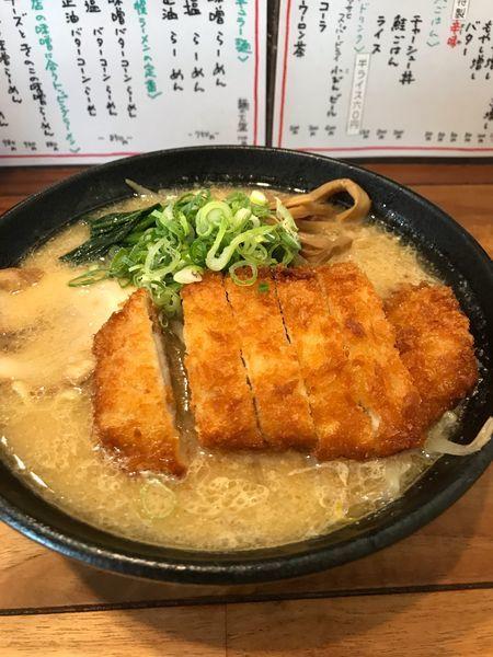 「とんかつ味噌ラーメン、大盛り」@北の大地 三田店の写真