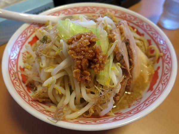 「ふじ麺 780円 ※こってり・ニンニク」@景勝軒 西片貝店の写真
