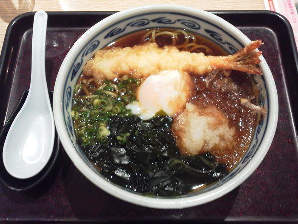 「えび天温玉そば 680円+tax」@和食レストラン とんでん 狭山ヶ丘店の写真