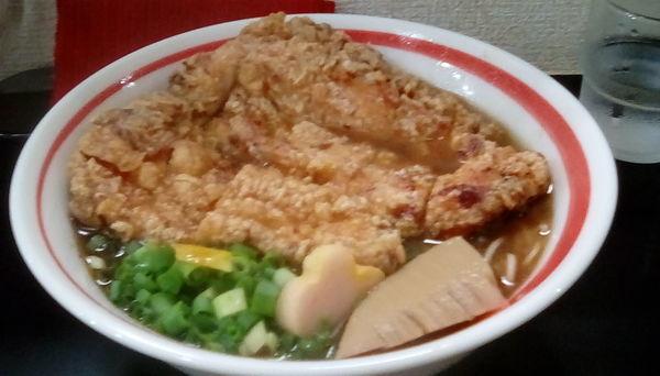 「揚げチキンめん」@自家製麺SHINの写真
