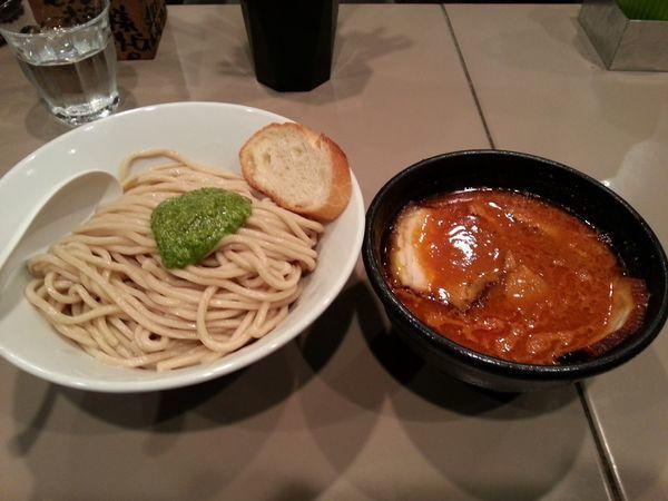 「海老トマトつけ麺肉入り」@つけ麺 五ノ神製作所の写真