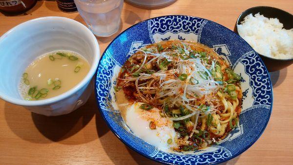 「汁なし担々麺¥820-+半ライス無料」@中華そば 虎桜の写真