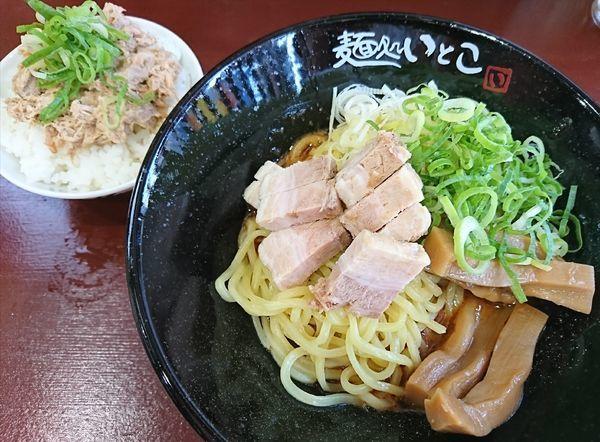 「えび味噌の油そば(並)¥720+チャーシュー丼(小)¥80」@麺処 いとこの写真