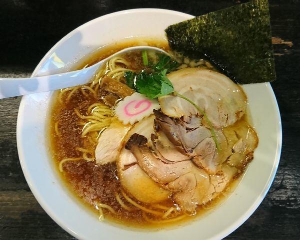 「煮干中華そば¥750+豚チャーシュー¥280=¥1030」@つけ麺 弐☆゛屋の写真