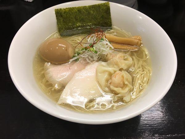 「特製 博多地鶏の鶏そば 塩」@つけ麺 凌駕の写真