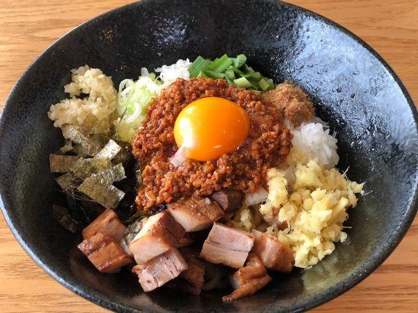 「刻み豚盛 台湾まぜそば 930円」@益子町 まー麺の写真