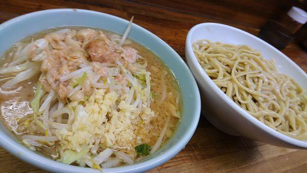 「小つけ麺、ニンニクましまし、チョイあぶら」@ラーメン二郎 新小金井街道店の写真