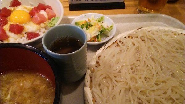 「七蔵特製スープつけ麺(小)+ミニ丼ぶりのセット 1100円」@七蔵の写真