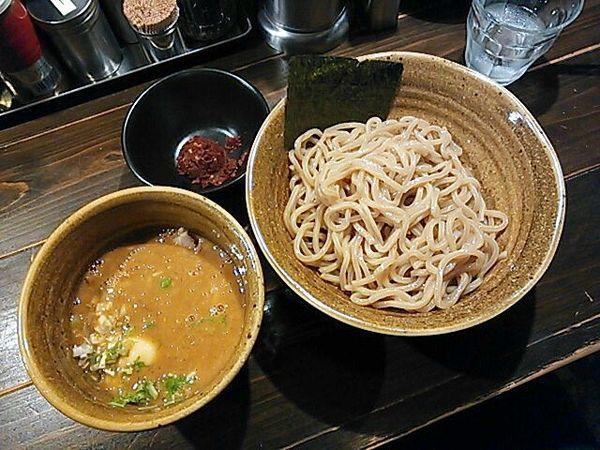 「海老つけ麺+味玉・辛味」@つけ麺 花みずきの写真