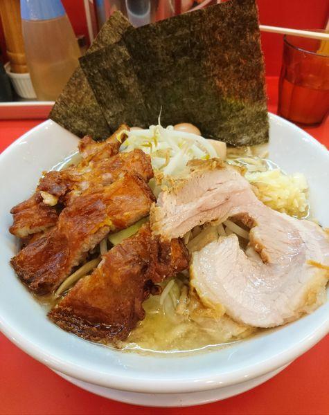 「ラーメン小 ニンニク ヤサイ少なめ 特製トッピング」@自家製麺 ダイサンの写真