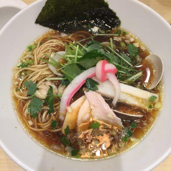 「蛤SOBA 半麺」@むぎとオリーブ 日本橋店の写真