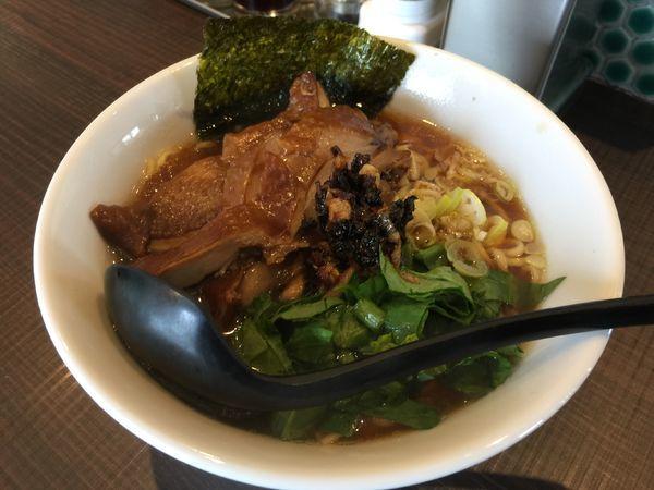 「鶏らー麺 (大盛)」@鶏がら屋の写真