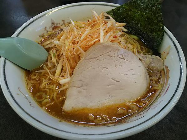 「ピリ辛ハルピン (麺大盛り)」@ハルピンラーメン 下諏訪町役場前店の写真