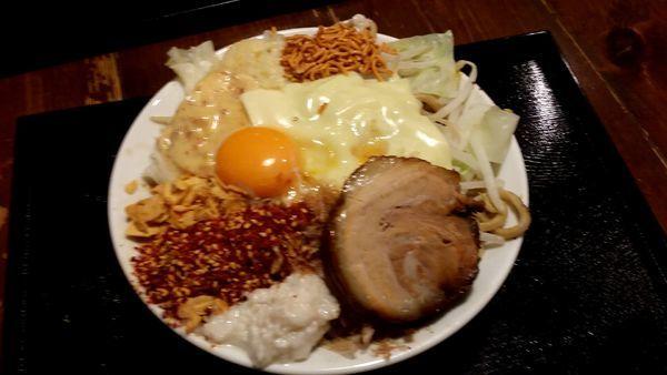 「まぜそば 大盛り790円」@麺屋大和の写真