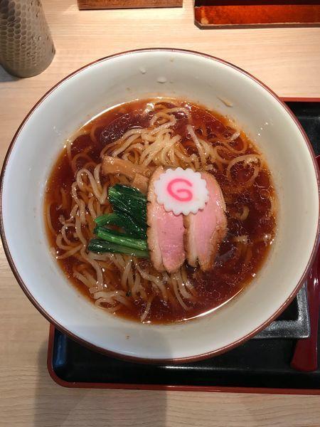 「芳醇鴨そば・太麺 900円」@銀座 鴨そば 九代目 けいすけの写真