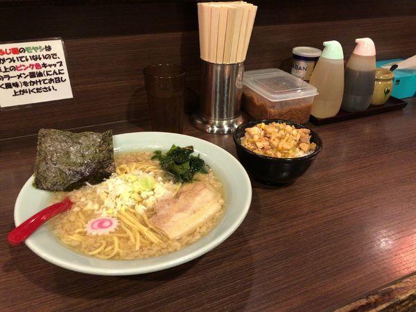 「こってりラーメン 730円 まぶし飯 250円」@山勝角ふじ 総本店の写真
