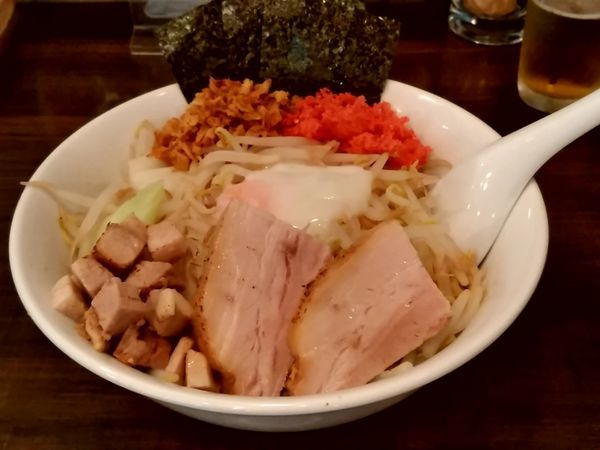 「承太郎汁なし(大盛・300g)800円」@麺屋 承太郎の写真