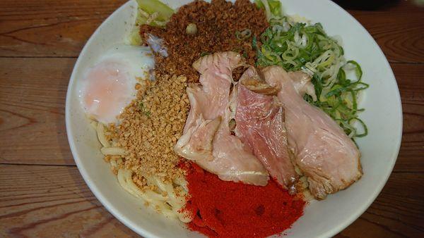 「特製汁なし担々麺 大(1100円)+ミニライス(50円)」@自家製麺 てんかの写真