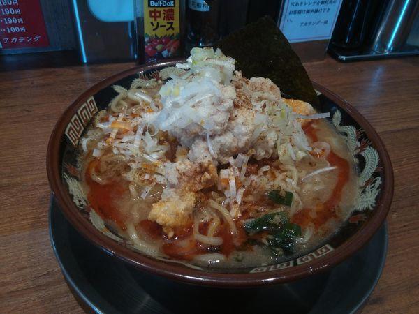 「唐揚げ坦々麺」@らーめんアカテングの写真