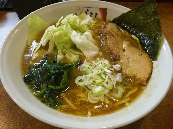 「醤油豚骨ラーメン (大盛り)」@麵屋 しるしの写真