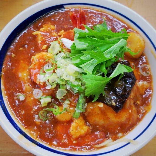 「【菊月限定】俺のワンタンチリソースW 2300円」@MENYA 食い味の道有楽の写真