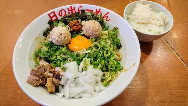 「ガッツ麺DX+青ネギ」@日の出らーめん 大船店の写真