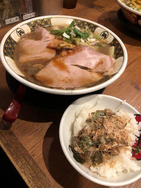 「すごい煮干ラーメン だし茶漬けセット」@すごい煮干ラーメン凪 渋谷東口店の写真