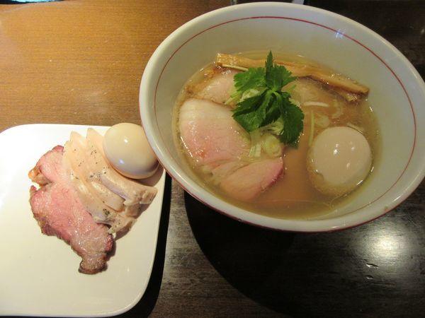 「限定 亀井式 純手打ち塩中華そば(850円)」@麺や 虎徹の写真