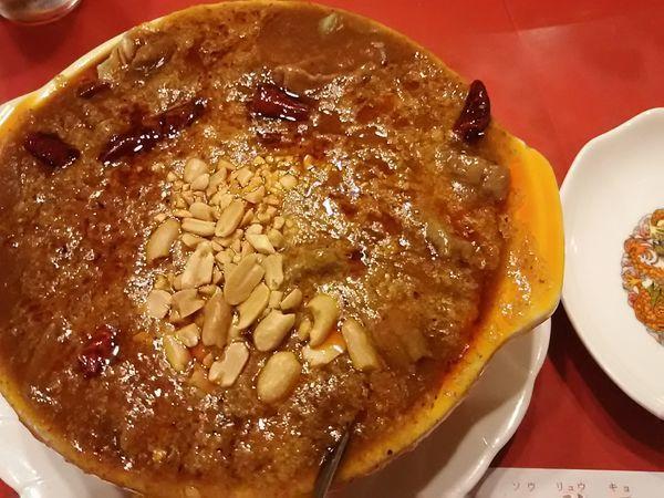 「牛肉の四川風煮込み(玉子麺付き)¥1,100」@双龍居の写真