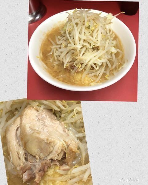 「小ラーメン(ふつう・豚2枚) (麺少なめで) ¥700」@ラーメン二郎 ひばりヶ丘駅前店の写真