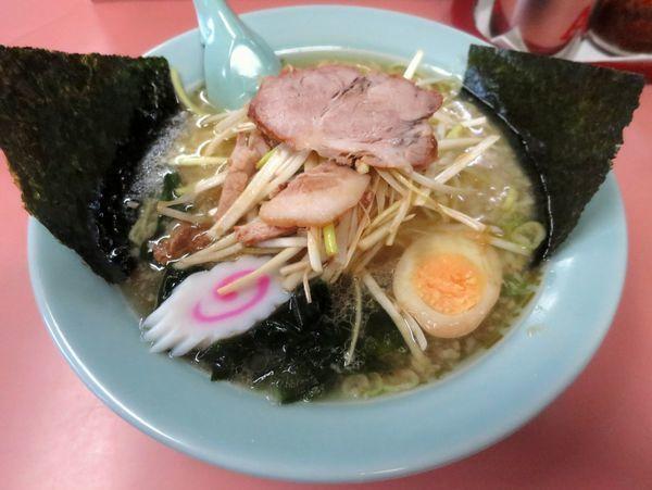 「ネギラーメン 740円 ※麺硬め・アブラ多め」@ラーメンショップ 棚倉店の写真