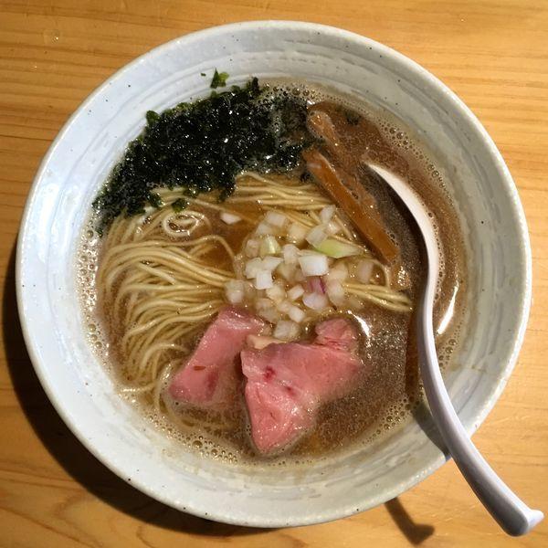 「雪の松島 旨辛純米酒 → 煮干らぁ麺」@麺屋 さくら井の写真