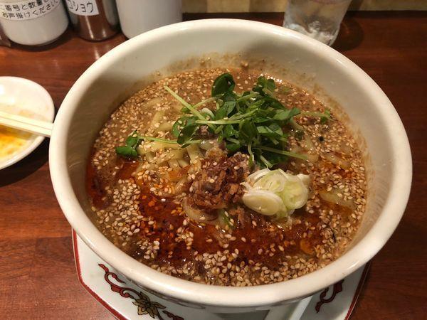 「白胡麻坦々麺」@紅豚の写真