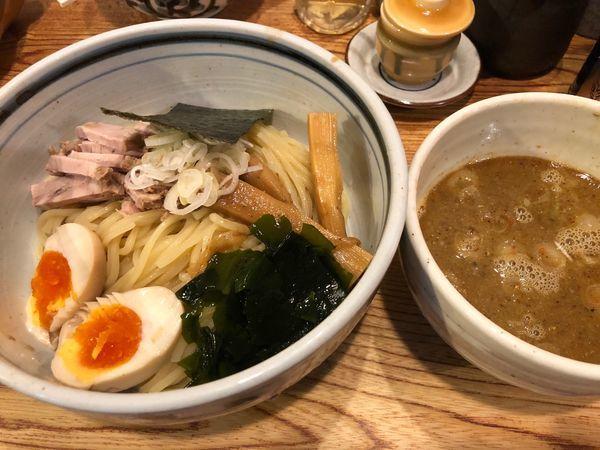 「つけ麺780円、味玉100円、チャーシューごはん300円」@こうかいぼうの写真